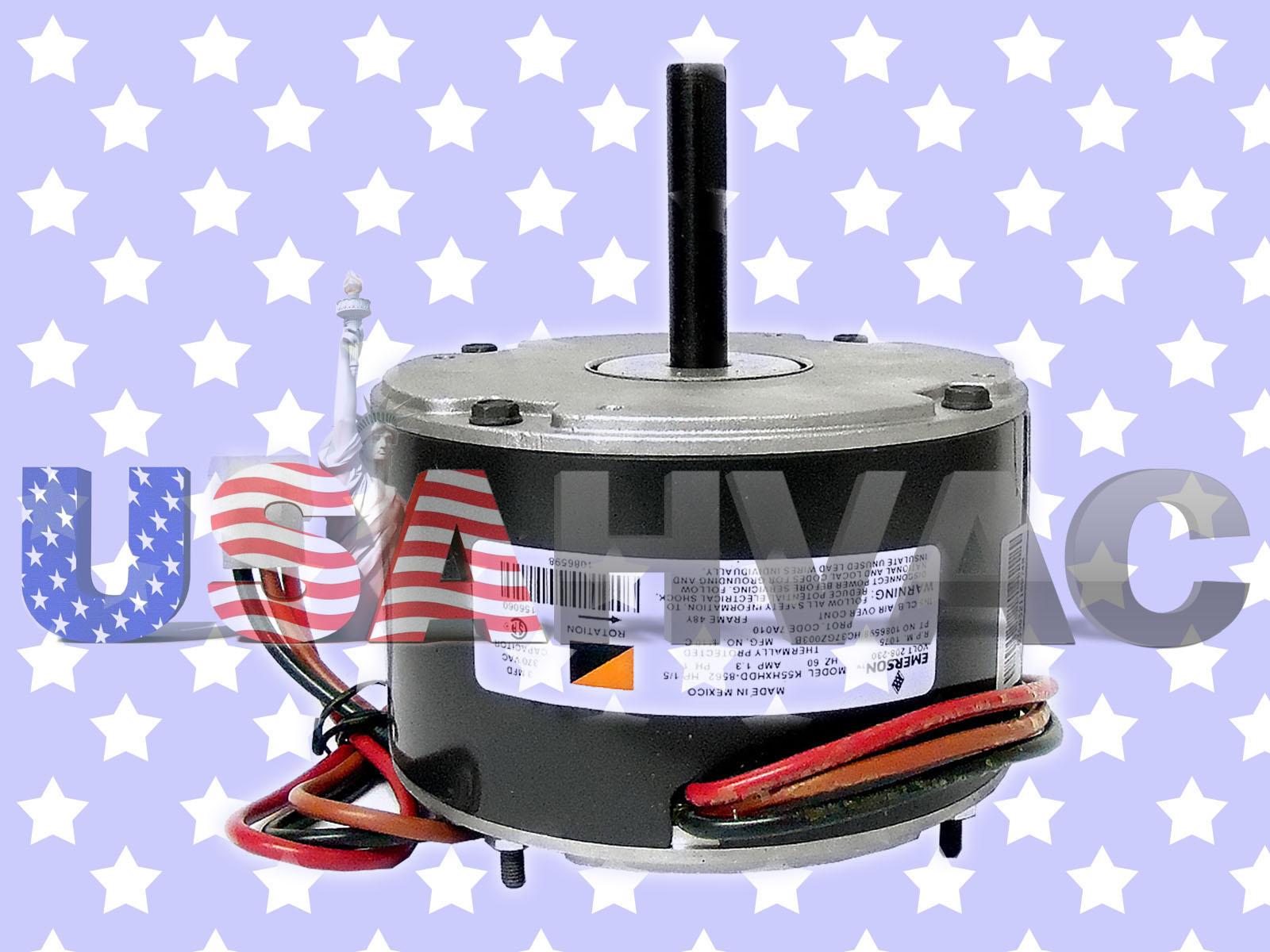 Emerson Fan Motor 1 5 Hp 230 Vac 1075 Rpm K55hxpss 7300 Ebay