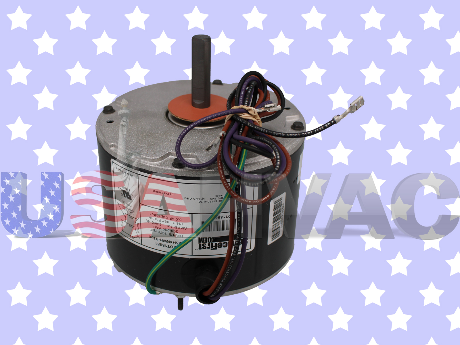 Trane american standard fan motor 1 8 hp 208 240v 1075 rpm for American standard fan motor